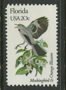 USA - Scott 1961 - State Birds & Flowers - 1982 - MNG - Single 20c Stamp