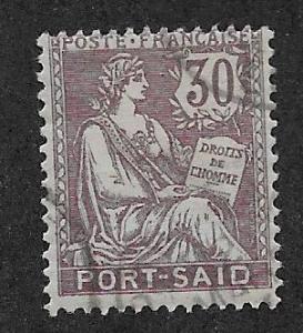 FRENCH OFFICES - PORT SAID SC# 27 AVF/U 1903