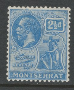 Montserrat 1922 King George V 2 1/2p Scott # 62 MH