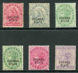 Chamba SG22/7 1900 QV Colour Change Set of 5 (plus shade) M/M