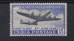 J28323 1948 india set of 1 mh #c7 airplane