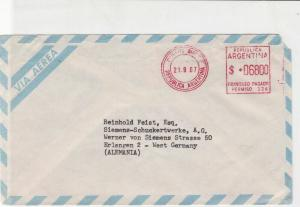 Argentina 1967 Airmail B.AiresCancel From Marval & O'Farrell Stamps Cover R18590