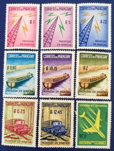 Paraguay Scott # 577-581 & C278-281 MNH (A247)