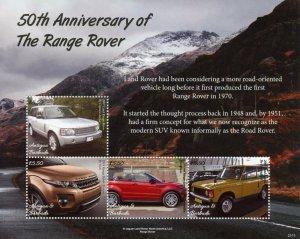 Antigua & Barbuda Cars Stamps 2021 MNH Land Range Rover 50th Anniv 4v M/S