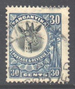 Tanganyika Scott 18 - SG79, 1922 Giraffe 30c used