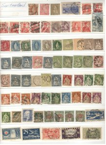 EARLY SWITZERLAND COLLECTION ON STOCK SHEET