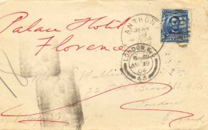 United States Florida Anthony 1904 duplex  5c Lincoln 1902 Definitive to Lond...