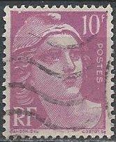 France 600 (used) 10fr Marianne, brt violet (1948)