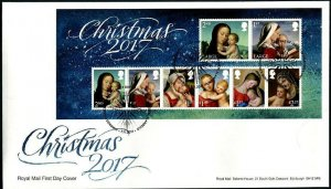 HERRICKSTAMP GREAT BRITAIN Sc.# 3665 Christmas 2017 First Day Cover