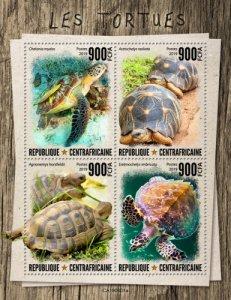 C A R - 2019 - Turtles - Perf 4v Sheet  - M N H