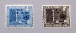 UN, NY - 83-84, MNH Set. UN Headquarters. SCV - $0.50