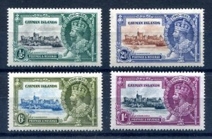 Cayman Islands 1935 KGV. Silver Jubilee set of 4. Mint Hinged. SG108/111.