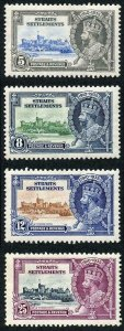Straight Settlements SG256/9 1935 silver Jubilee M/M (hinge reminders)