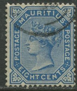 Mauritius - Scott 73 - QV Definitive -1893 - FU - Single 8c Stamp