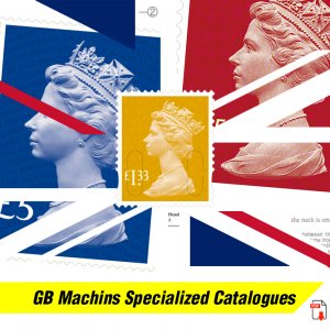 GREAT BRITAIN QEII MACHIN STAMPS SPECIALIZED PDF DIGITAL CATALOGUES (4500 pages)