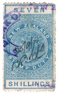 (I.B) New Zealand Revenue : Stamp Duty 7/-
