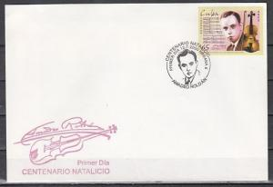 Cuba, Scott cat. 4087. Violinist issue on a First Day Cover. ^
