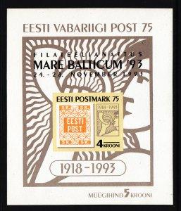 Estonia 260a Souvenir Sheet MNH VF