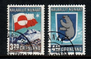 Greenland  200 - 201  used cat $  3.25