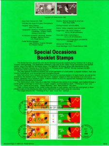 US SP839 Special Occasions 2398a Souvenir Page FDC