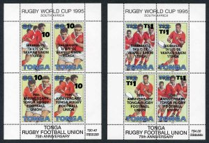 Tonga SGMS1377 1997 Rugby overprints Cat 12 pounds