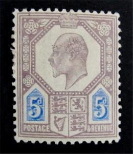 Great Britain Scott 134 KEVII  CV$68 MH* Magnificent