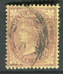 JAMAICA; 1905-08 early QV issue fine used 3d. value