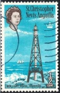 New Lighthouse, Sombrero, St. Kitts-Nevis stamp SC#145 used