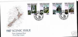 NEW ZEALAND FDC 1987 SCENIC