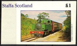 {ST093} Staffa Scotland Trains (9) S/S 1£ MNH Local Cinderella !!