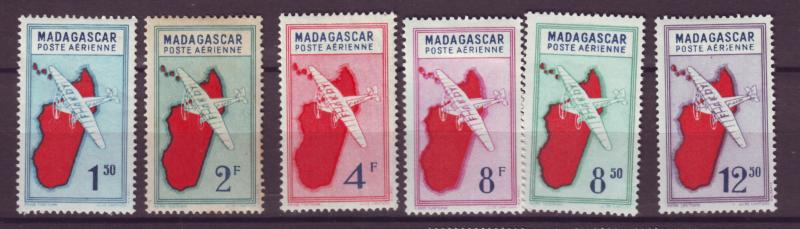 J17704 JLstamps 1942-4 various madagascar, mh #c25c- airplanes