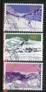 LIECHTENSTEIN Scott 678-680 used CTO 1979 olympic set