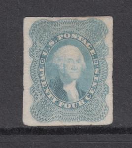 US Sc 37P3 MNG. 1860 24c lilac Washington Proof on India Paper, PF Cert