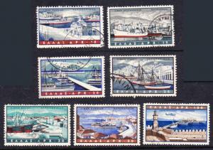 Greece #C74-80 used ports cpl