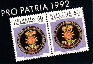 Switzerland 1992 Pro-Patria Semi Postal Booklet Post Office Fresh