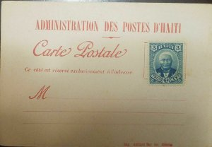 L) 1888 HAITI, GENERAL LOUIS ETIENNE FELICITE SALOMON, SCOTT A5, 3C BLUE, POSTAL