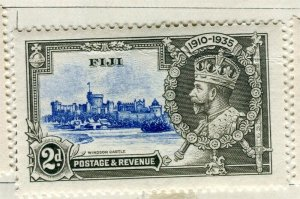 FIJI; 1935 early GV Silver Jubilee issue Mint hinged 2d. value