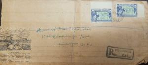 O) 1940 PITCAIRN ISLANDS, MAP PITCAIRN AND PACIFIC OCEAN-SCOTT A5 3P BLUE, REGIS