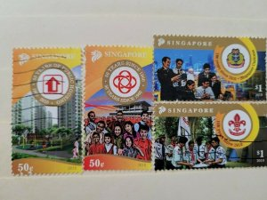 SINGAPORE  2010  ANNIVERSARIES IN USED CONDITION .