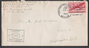 NEW HEBRIDES 1943 WW2 US Forces cover ex APO 932 at Efate...................M614
