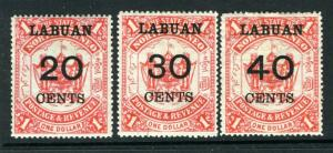LABUAN #60-62  Great issue - Nice  (MINT Hinged)  cv$125.00