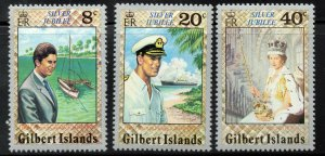 GILBERT ISLANDS 1977 Queen Elizabeth II Silver Julibee Set SG 48 to SG 50 MNH