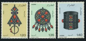 Algeria 1978 Art Jewelry Ring Craft Mineral Antique Pendant Ring Stamps Mi 731-3