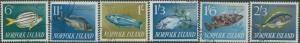 Norfolk Island 1962 SG43-48 Fish set FU
