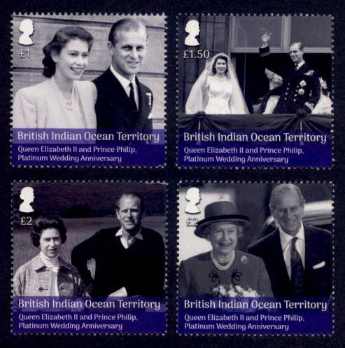 British Indian Ocean Territory - New Issue - MNH Platinum Wedding Anniversary
