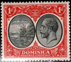 DOMINICA Scott 67 MH* Hinge Remnant stamp Best Copy