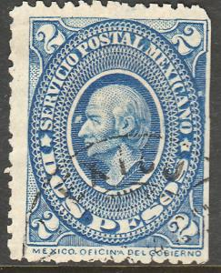 MEXICO 162, $2P USED, F-VF. (76)