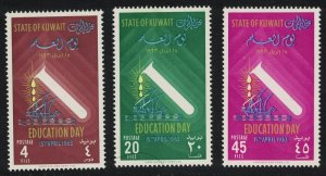Kuwait Education Day 3v 1963 MH SG#188-190