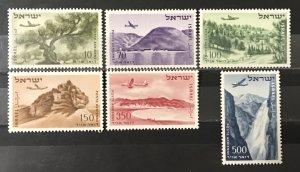 Israel 1953-6  #C9-14, MNH