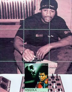 Angola 2000 CHESS - Muhammad Ali Box Legend Souvenir Sheet (1) MNH